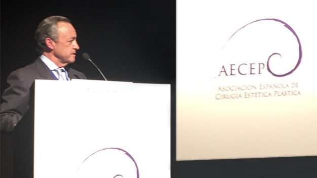 El doctor millán en el congreso de AECEP