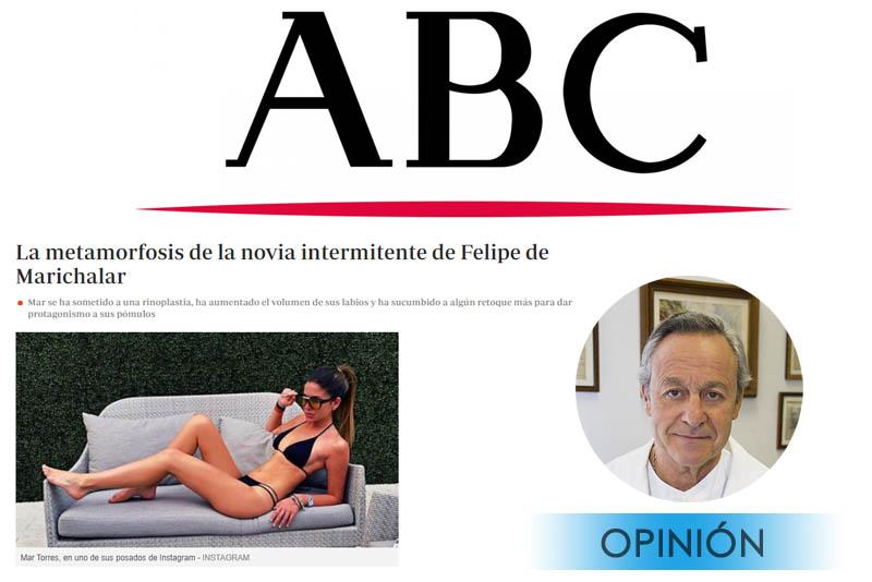 El Doctor Millán da su opinión en el artículo del ABC
